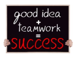 good idea plus team work equals success